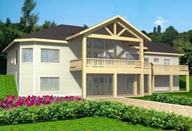 House Plan 85341   Style Plan with 5866 Sq Ft, 3 Bedrooms, 3 Bathrooms, 3 Car Garage Elevation