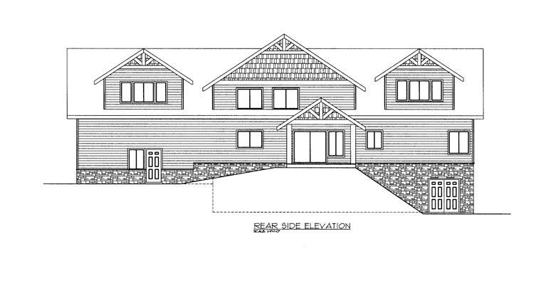 House Plan 85342 Rear Elevation