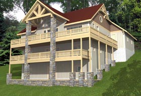 House Plan 85344 | Country Style Plan with 3100 Sq Ft, 4 Bedrooms, 3 Bathrooms, 2 Car Garage Elevation