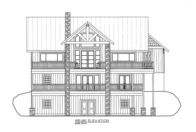 Country House Plan 85344 Rear Elevation