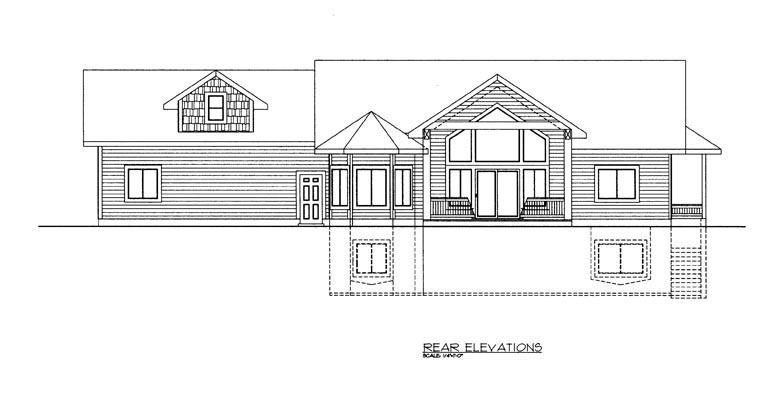 House Plan 85345 Rear Elevation