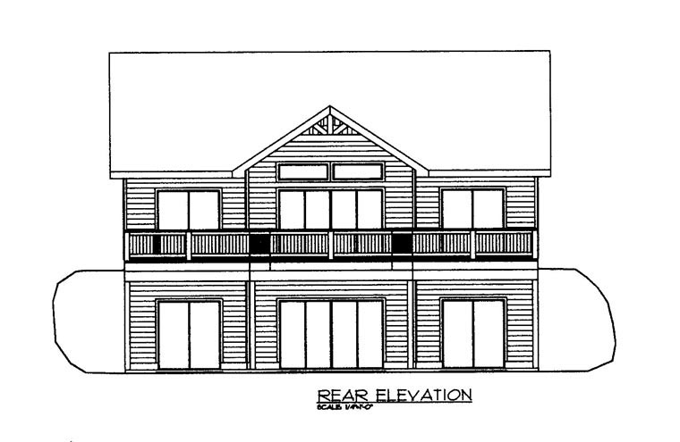 House Plan 85347 Rear Elevation