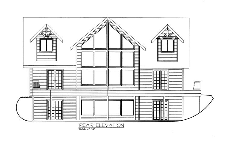House Plan 85348 Rear Elevation