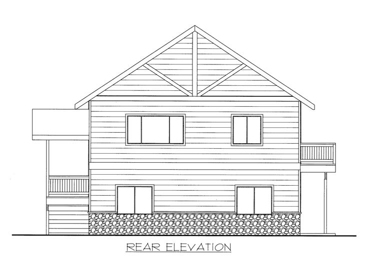 House Plan 85350 Rear Elevation