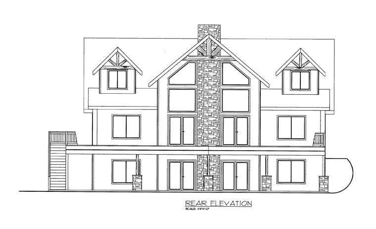 House Plan 85351 Rear Elevation