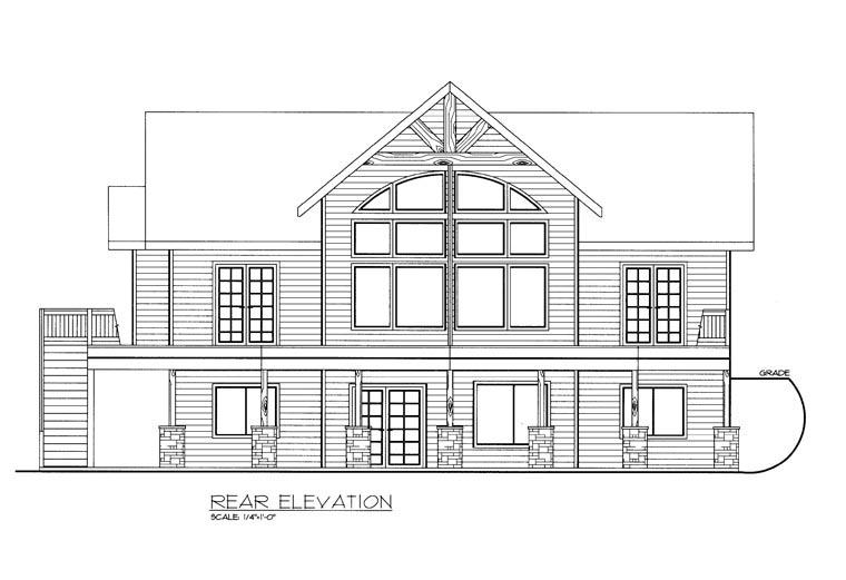 House Plan 85352 Rear Elevation