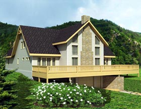 House Plan 85353 | Style Plan with 2600 Sq Ft, 3 Bedrooms, 3 Bathrooms, 2 Car Garage Elevation