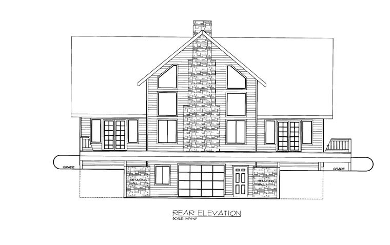 House Plan 85353 Rear Elevation