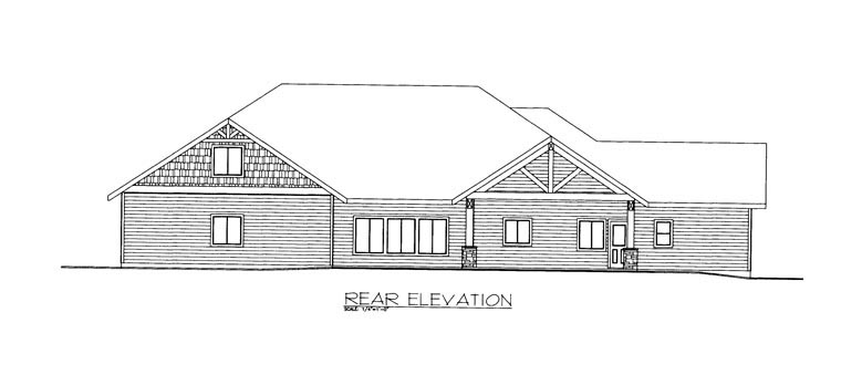 House Plan 85354 Rear Elevation