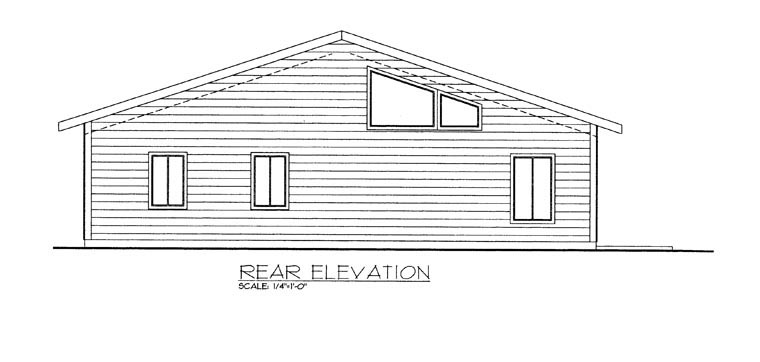 House Plan 85358 Rear Elevation