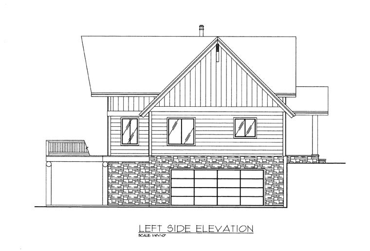 Craftsman House Plan 85359 with 3 Beds, 3 Baths, 2 Car Garage Picture 1
