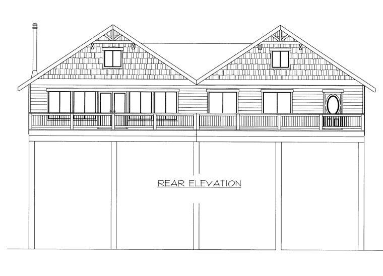 House Plan 85360 Rear Elevation