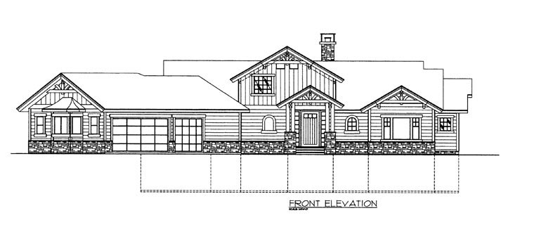 House Plan 85361 with 4 Beds, 4 Baths, 3 Car Garage Picture 1