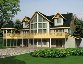House Plan 85362 with 4 Beds, 4 Baths, 2 Car Garage Elevation