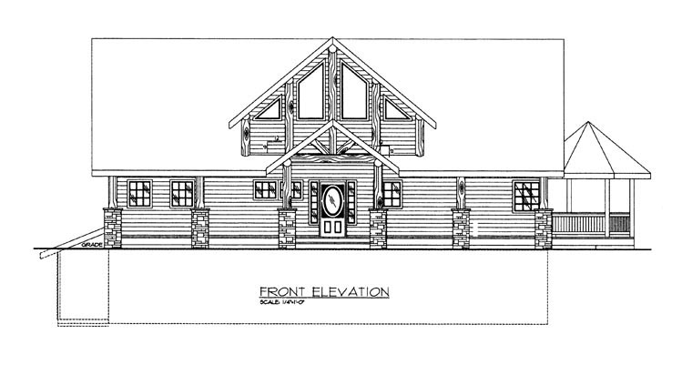 House Plan 85362 with 4 Beds, 4 Baths, 2 Car Garage Picture 3