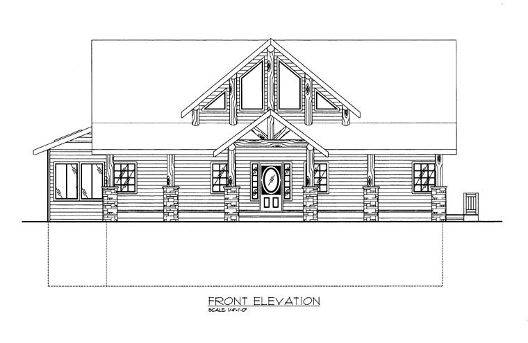House Plan 85364 with 3 Beds, 3 Baths, 2 Car Garage Picture 1