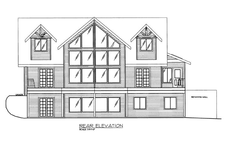 House Plan 85364 Rear Elevation