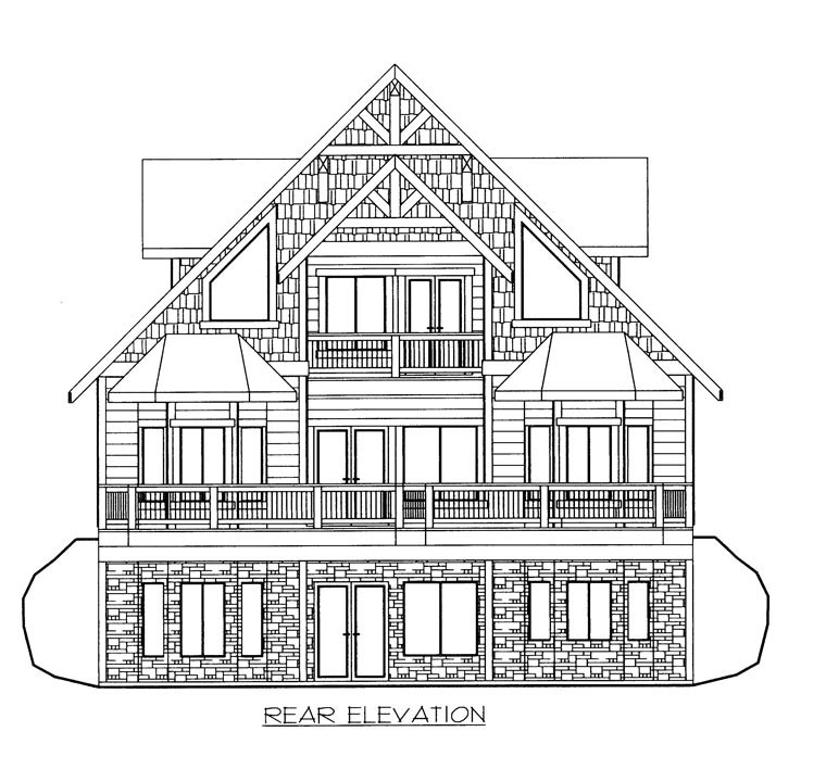 House Plan 85365 Rear Elevation