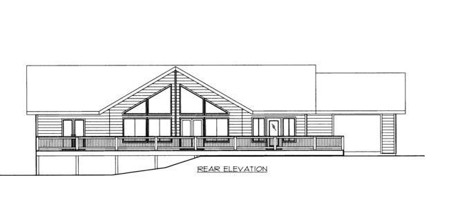 House Plan 85366 Rear Elevation