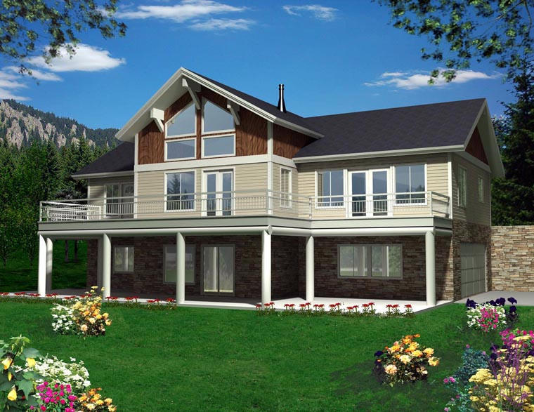 House Plan 85367 with 3 Beds, 3 Baths, 2 Car Garage Elevation