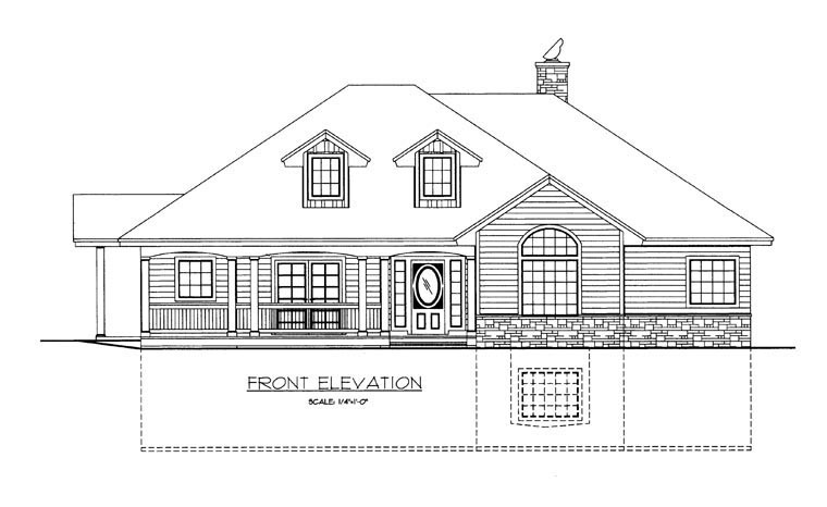 House Plan 85368 Elevation