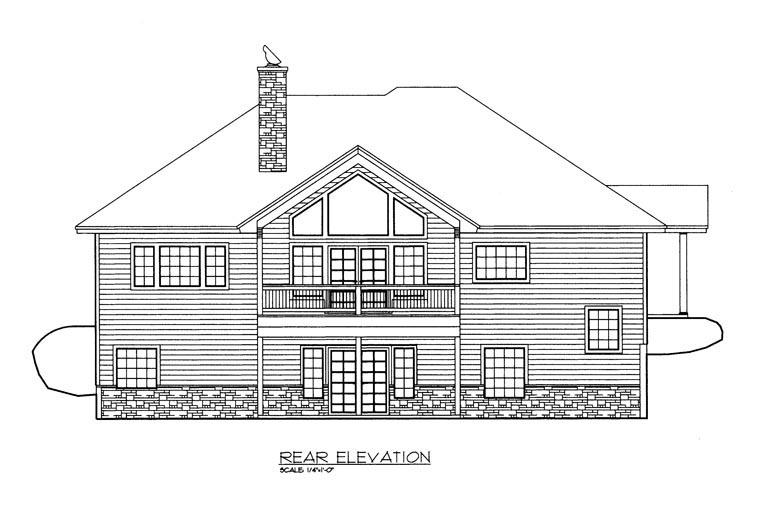 House Plan 85368 Rear Elevation