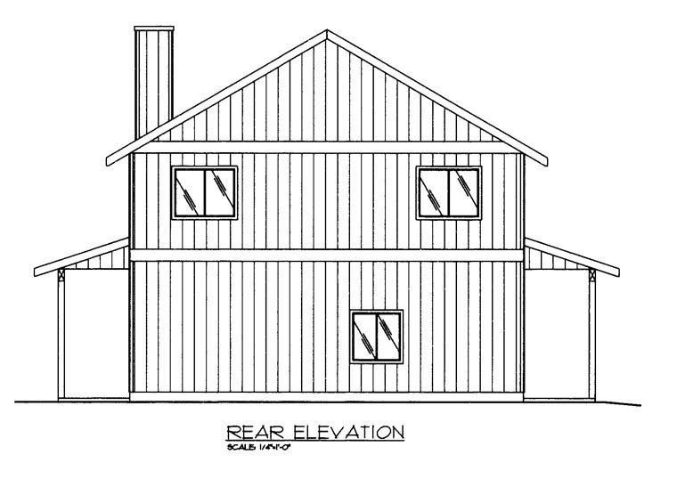 House Plan 85369 Rear Elevation