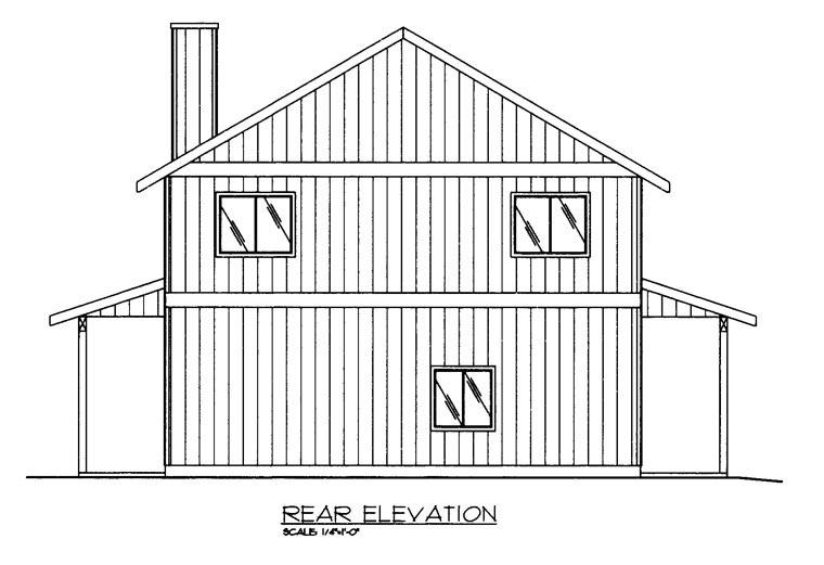 House Plan 85370 Rear Elevation