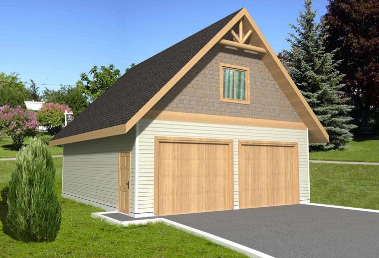 2 Car Garage Plan 85375 Elevation