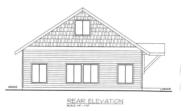 House Plan 85376 Rear Elevation