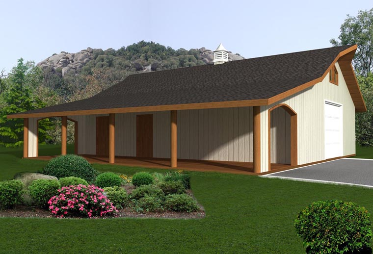 0 Car Garage Plan 85377 Elevation