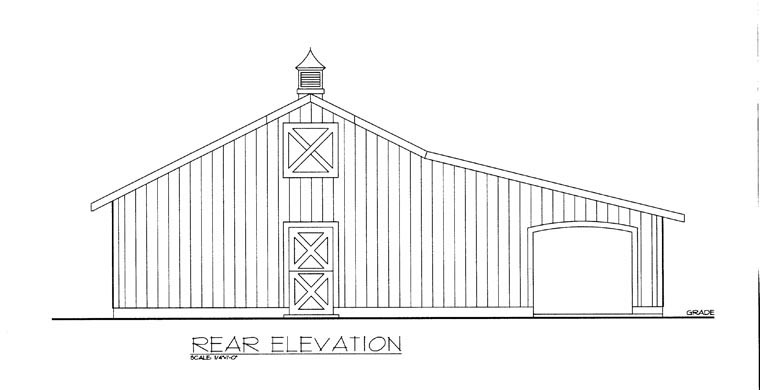 Garage Plan 85377 Rear Elevation