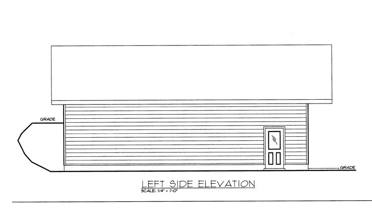 0 Car Garage Plan 85378 Picture 1