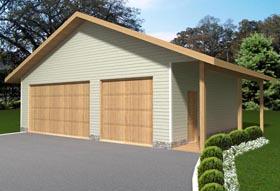 Garage Plan 85380 | Style Plan, 3 Car Garage Elevation