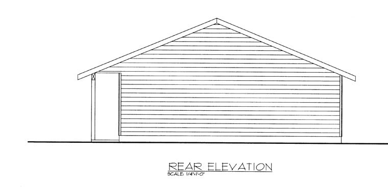 Garage Plan 85380 Rear Elevation