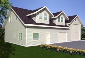 3 Car Garage Plan 85381, 1 Baths, RV Storage Elevation