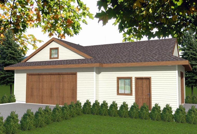 2 Car Garage Plan 85382 Elevation