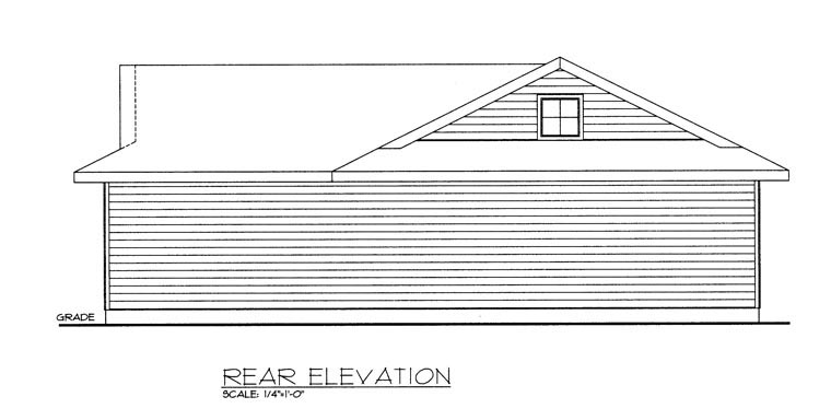 2 Car Garage Plan 85382 Rear Elevation