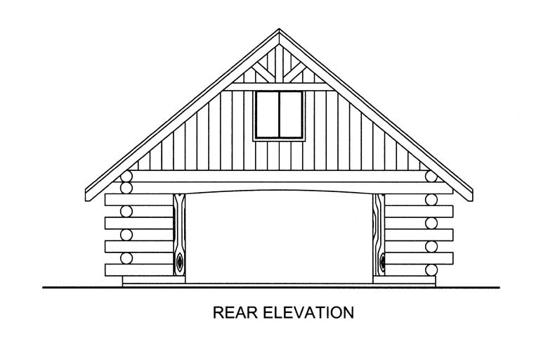 Garage Plan 85383 Rear Elevation