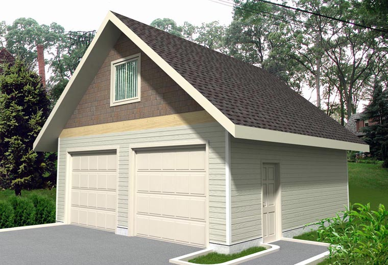 Garage Plan 85385 | Craftsman Style Plan, 2 Car Garage Elevation