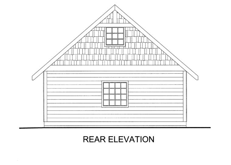 Garage Plan 85386 Rear Elevation