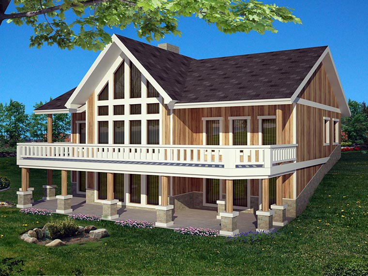 House Plan 85391 with 4 Beds, 4 Baths, 2 Car Garage Elevation