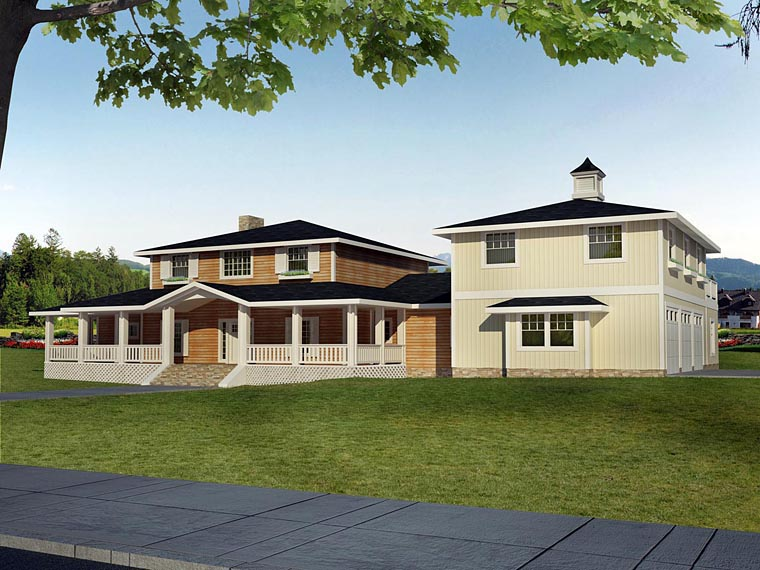 House Plan 85397 | Style Plan with 3748 Sq Ft, 4 Bedrooms, 5 Bathrooms, 3 Car Garage Elevation