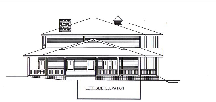 House Plan 85397 with 4 Beds, 5 Baths, 3 Car Garage Picture 1