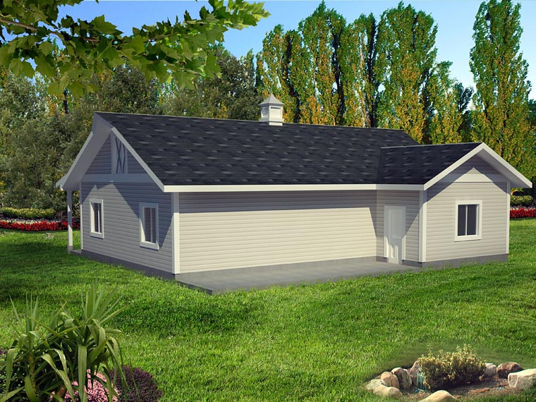 0 Car Garage Plan 85398 Picture 2