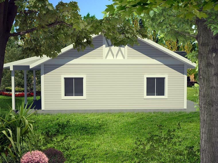 0 Car Garage Plan 85398 Picture 3