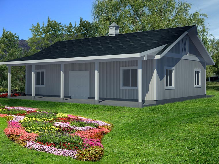 0 Car Garage Plan 85398 Picture 4