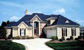 Traditional House Plan 85400 with 4 Beds, 4 Baths, 2 Car Garage Elevation