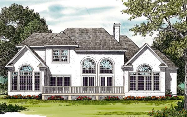 Traditional House Plan 85400 Rear Elevation