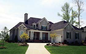 Traditional House Plan 85401 with 4 Beds, 3 Baths, 2 Car Garage Elevation